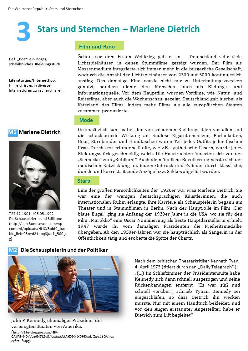 3 Stars und Sternchen – Marlene Dietrich Film und Kino S chon vor dem Ersten Weltkrieg gab es in Deutschland sehr viele Lichtspielhäuser, in denen Stu
