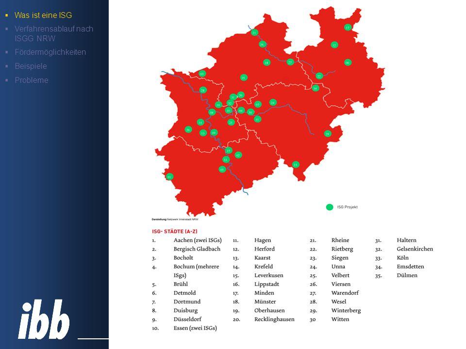 FD 61 Fachdienst Stadtplanung Gesetz über Immobilien- und Standortgemeinschaften (ISGG NRW) § 4 Abgabenfestsetzung, -erhebung und -verwendung Kostenpauschale zur Abgeltung des gemeindlichen Aufwands (maximal 3 v.