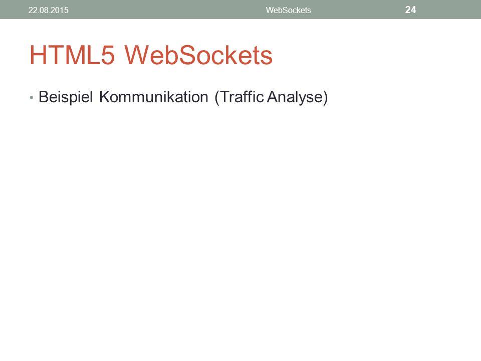 HTML5 WebSockets Beispiel Kommunikation (Traffic Analyse) 22.08.2015WebSockets 24