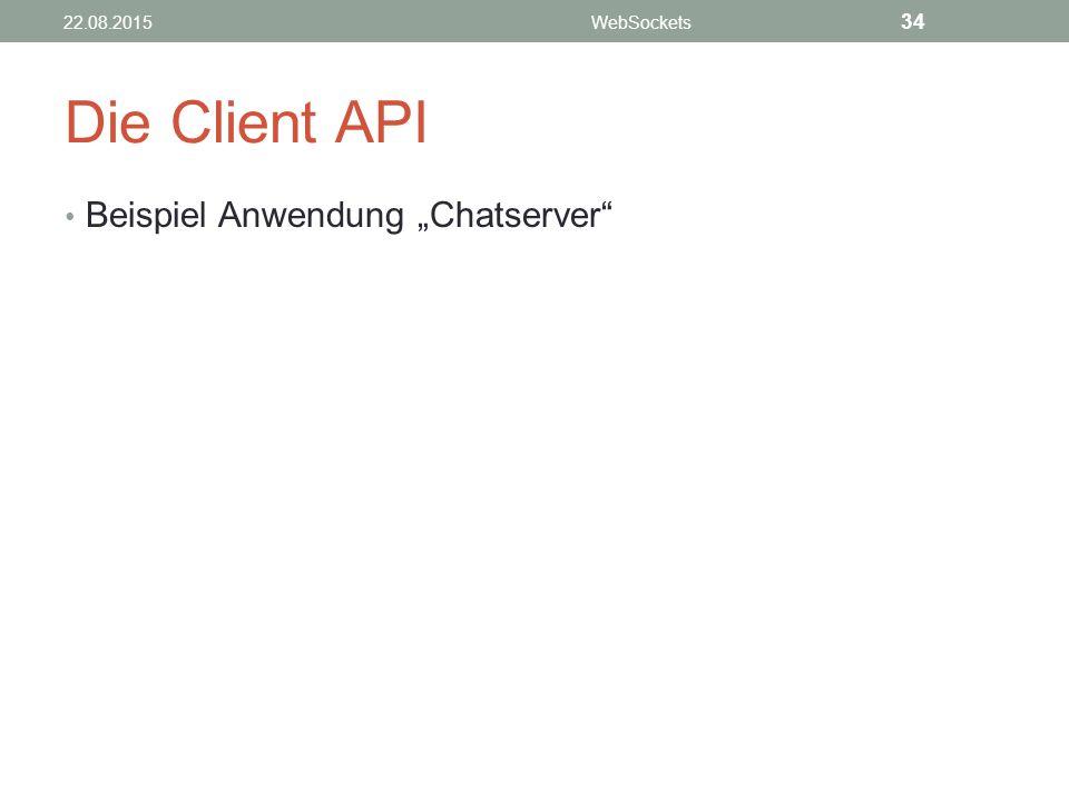 """Die Client API Beispiel Anwendung """"Chatserver 22.08.2015WebSockets 34"""