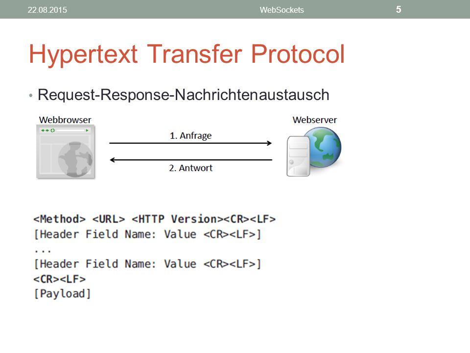 Hypertext Transfer Protocol Request-Response-Nachrichtenaustausch 22.08.2015WebSockets 5