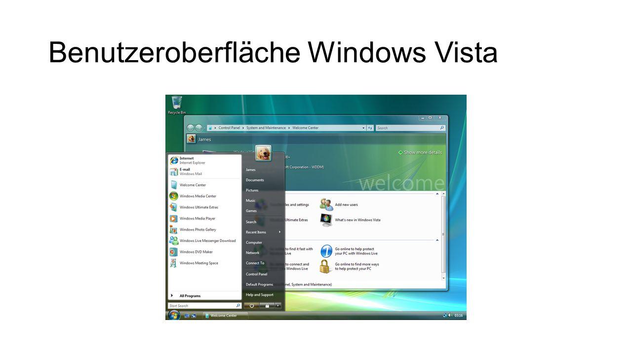 Benutzeroberfläche Windows Vista