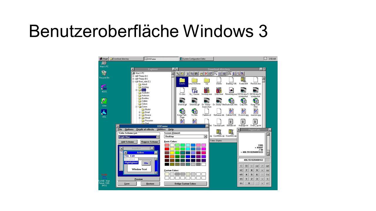 Benutzeroberfläche Windows 3