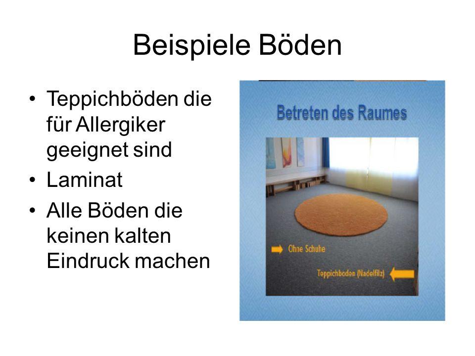 Beispiele Böden Teppichböden die für Allergiker geeignet sind Laminat Alle Böden die keinen kalten Eindruck machen