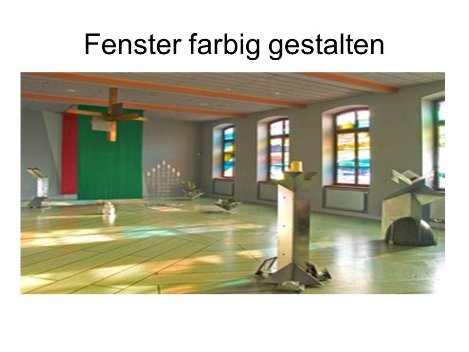 Fenster farbig gestalten