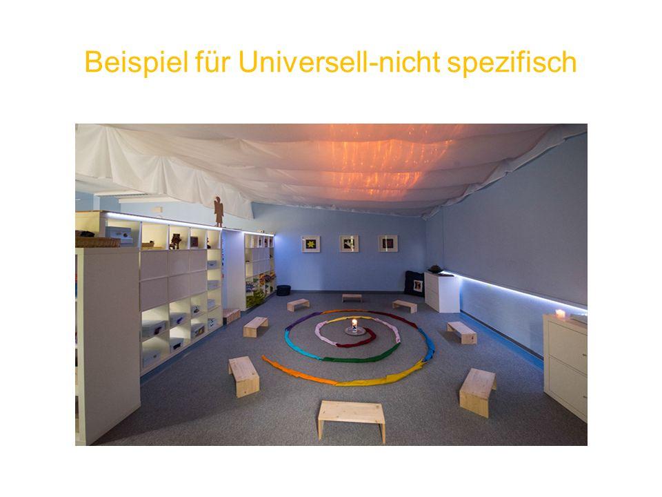 Beispiel für Universell-nicht spezifisch