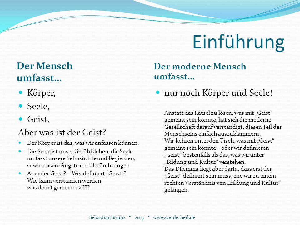 Auswirkungen Sebastian Stranz * 2015 * www.werde-heil.de Politik Der Geist ist der innere Führer.