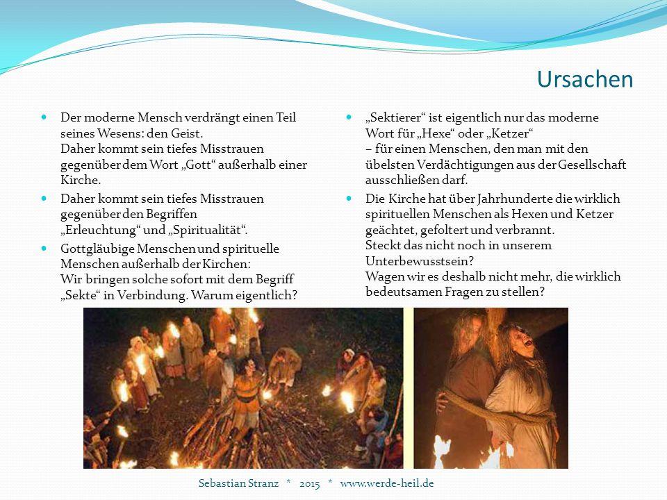 Annäherung an den Geist Unsere Gesellschaft Sebastian Stranz * 2015 * www.werde-heil.de Es wurde aufgezeigt, dass die Abspaltung des Spirituellen nicht nur das Heil (=die Ganzheit) des Einzelnen beschädigt, sondern auch der Gesellschaft.