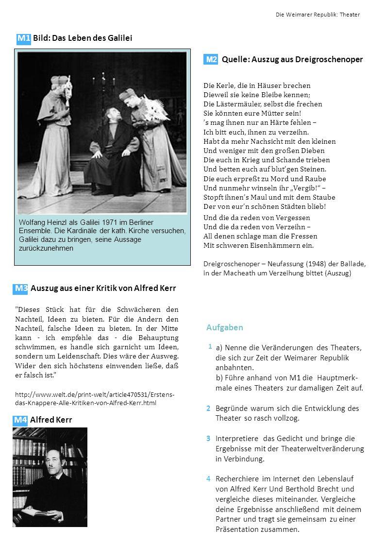 M1 Bild: Das Leben des Galilei Wolfang Heinzl als Galilei 1971 im Berliner Ensemble. Die Kardinäle der kath. Kirche versuchen, Galilei dazu zu bringen