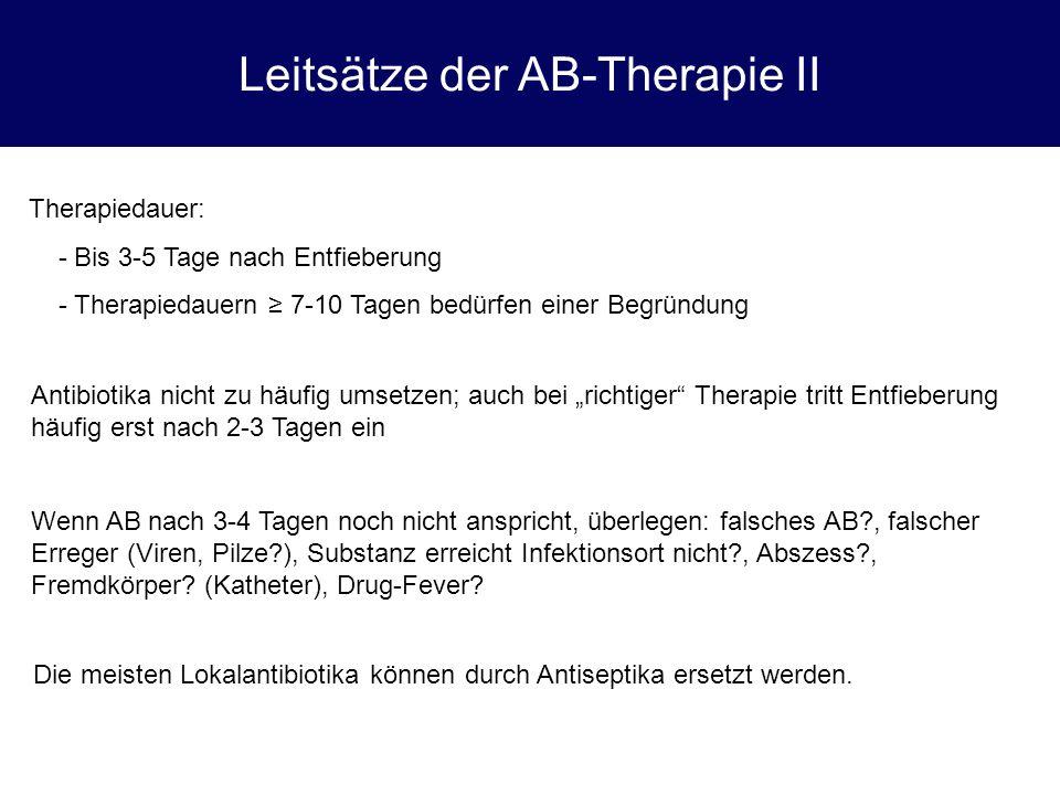 Fallbeispiel 3 Anamnese: 68-jähriger Mann, seit 2 Stunden Fieber 38,7°C, AZ-Minderung Untersuchungen.