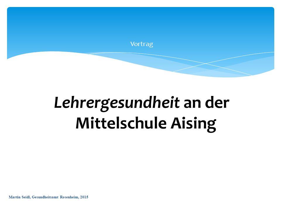 Vortrag Lehrergesundheit an der aMittelschule Aising Martin Seidl, Gesundheitsamt Rosenheim, 2015