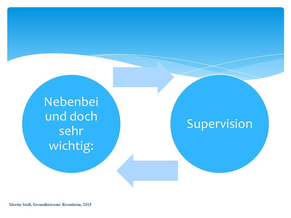 Nebenbei und doch sehr wichtig: Supervision Martin Seidl, Gesundheitsamt Rosenheim, 2015