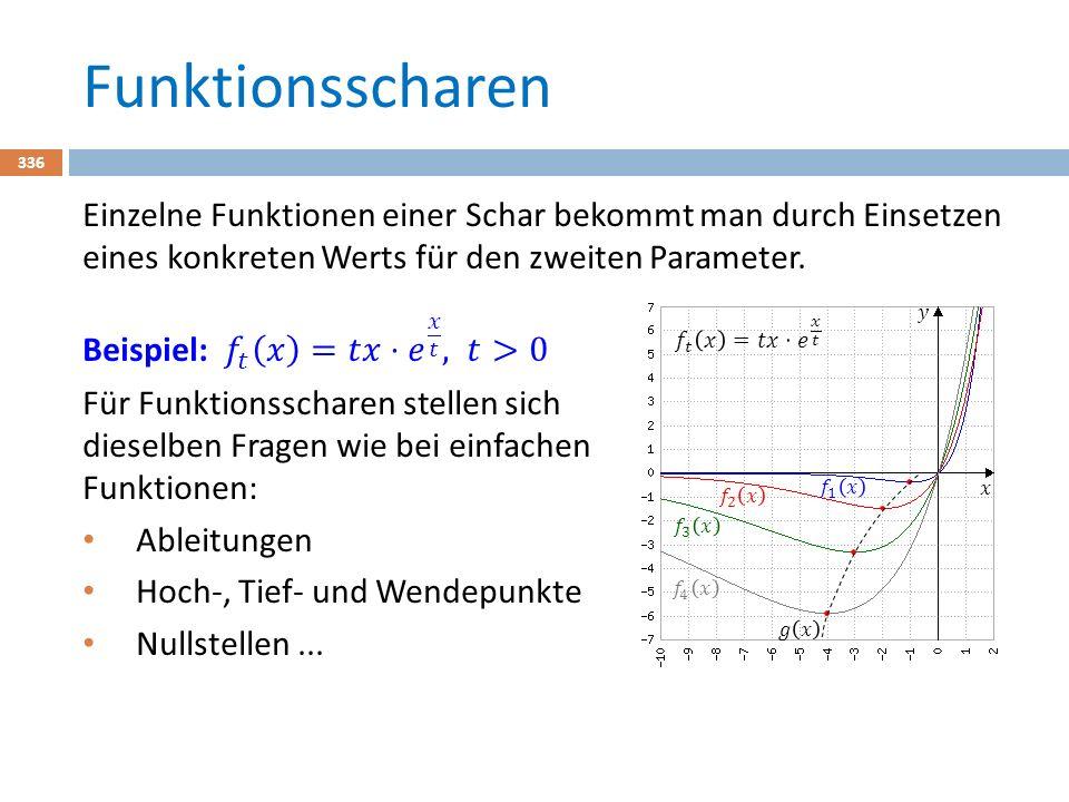 Flächen berechnen – Methode 1 357 Eingabe des Funktionsterms im Y-Editor und mir GRAPH zeichnen lassen.