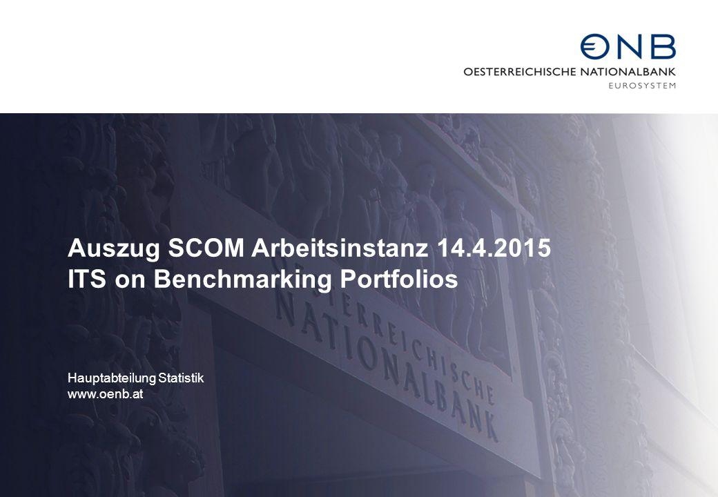 Auszug SCOM Arbeitsinstanz 14.4.2015 ITS on Benchmarking Portfolios Hauptabteilung Statistik www.oenb.at
