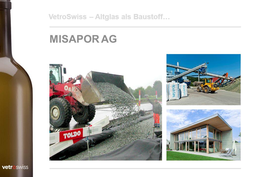 MISAPOR AG VetroSwiss – Altglas als Baustoff…