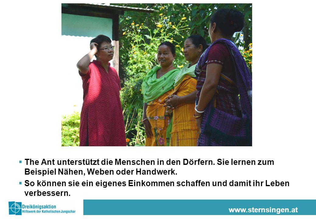 www.sternsingen.at  The Ant unterstützt die Menschen in den Dörfern.