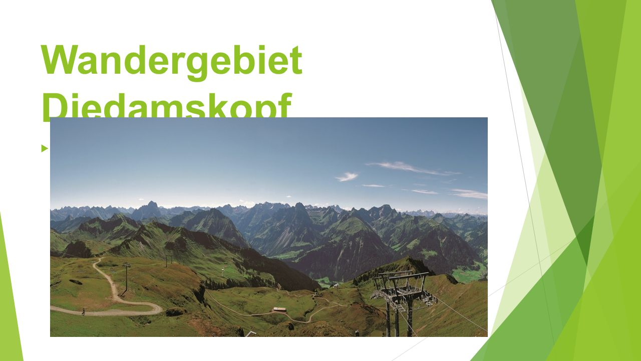Wandergebiet Diedamskopf 