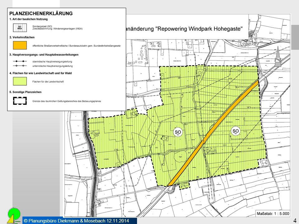 © Planungsbüro Diekmann & Mosebach 12.11.2014 4 Vorarbeiten Vorbereitende Bauleitplanung