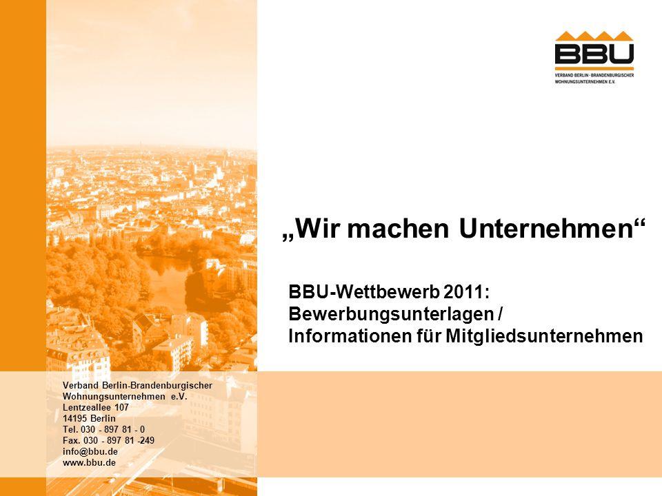 """2 BBU-Wettbewerb 2001   Wir machen Unternehmen """"Wir machen Unternehmen Der Einsatz lohnt sich Gute Personalführung und Unternehmenskultur mobilisieren Kräfte."""