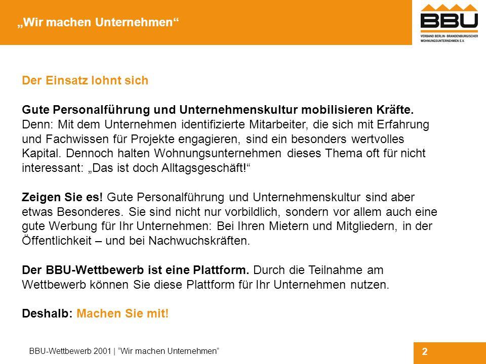 13 BBU-Wettbewerb 2001   Wir machen Unternehmen Die Formblätter   4: Zeigen Sie es kurz.