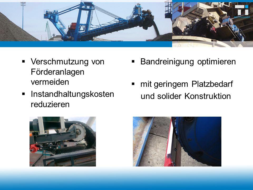 Hausmüllrecycling TI-PreCleaner mit Voll-PUR-Leistenblatt Arbeitsbreite 1.600 mm