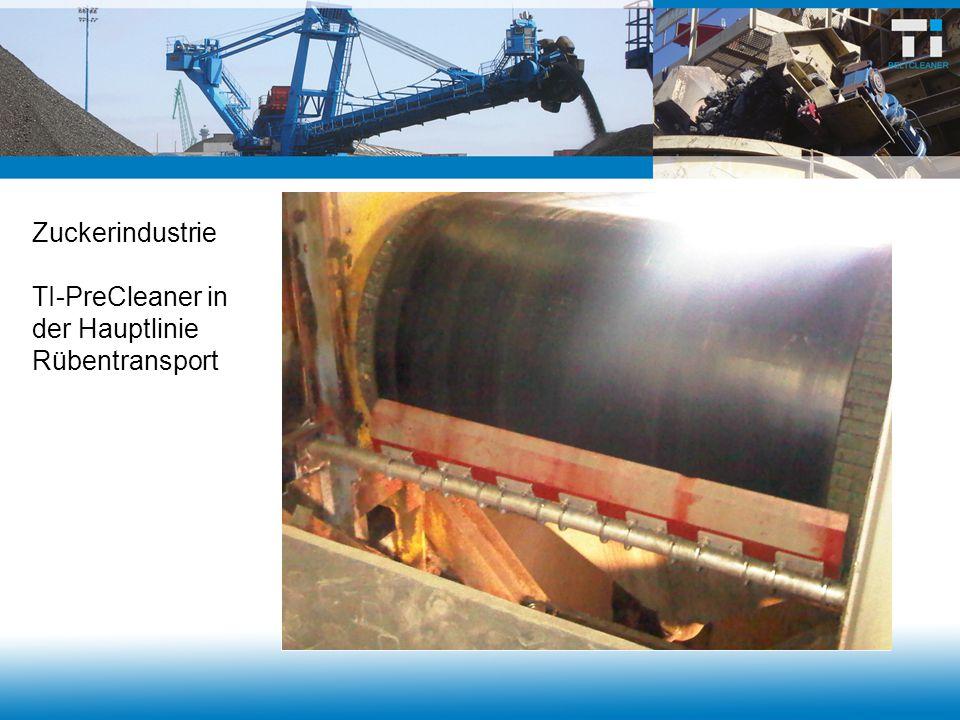 Zuckerindustrie TI-PreCleaner in der Hauptlinie Rübentransport