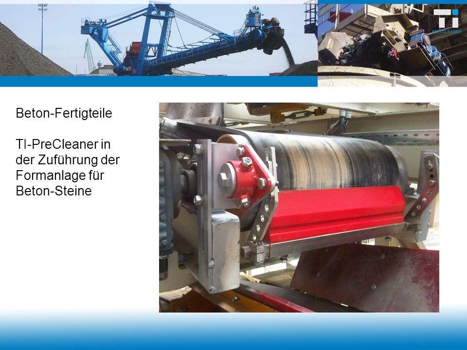 Asphaltindustrie Sonderanfertigung für Trommeleinwurfband Abstand zwischen Abstreifleiste und Andruckgerät 1.100 mm