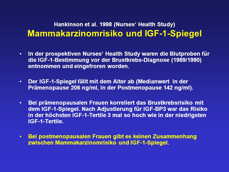 Zusammenfassung II Eine niedrig dosierte Estrogensubstitution reduziert die erhöhten Insulinspiegel und damit das Brustkrebsrisiko postmenopausaler Frauen.