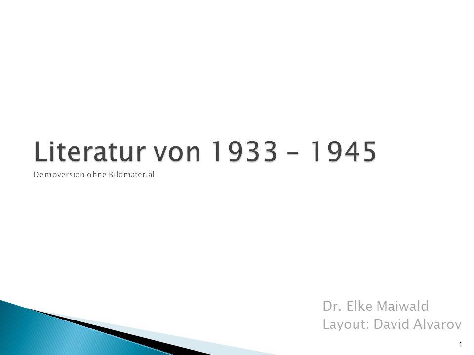 Dr. Elke Maiwald Layout: David Alvarov 1