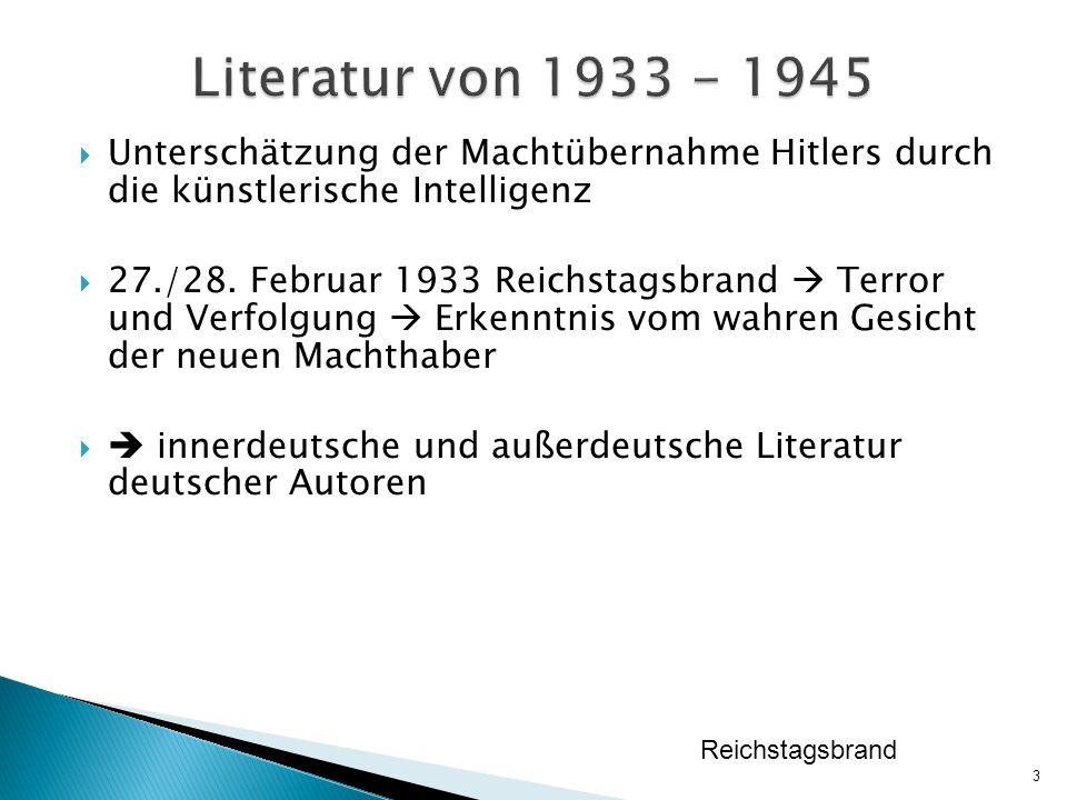  Unterschätzung der Machtübernahme Hitlers durch die künstlerische Intelligenz  27./28.