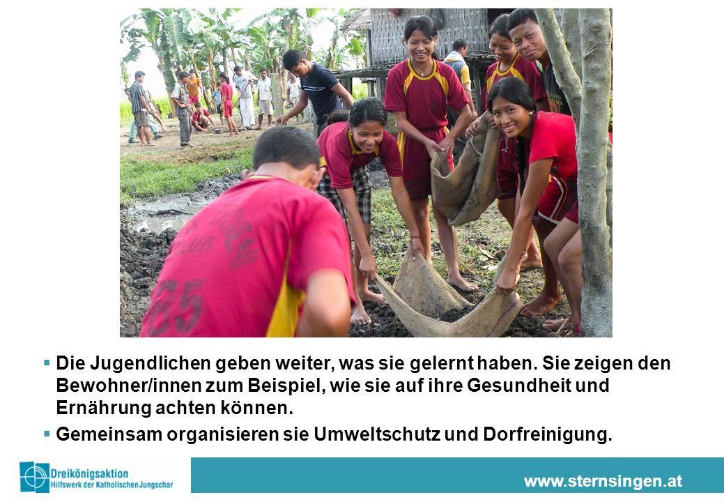 www.sternsingen.at  Die Jugendlichen geben weiter, was sie gelernt haben.