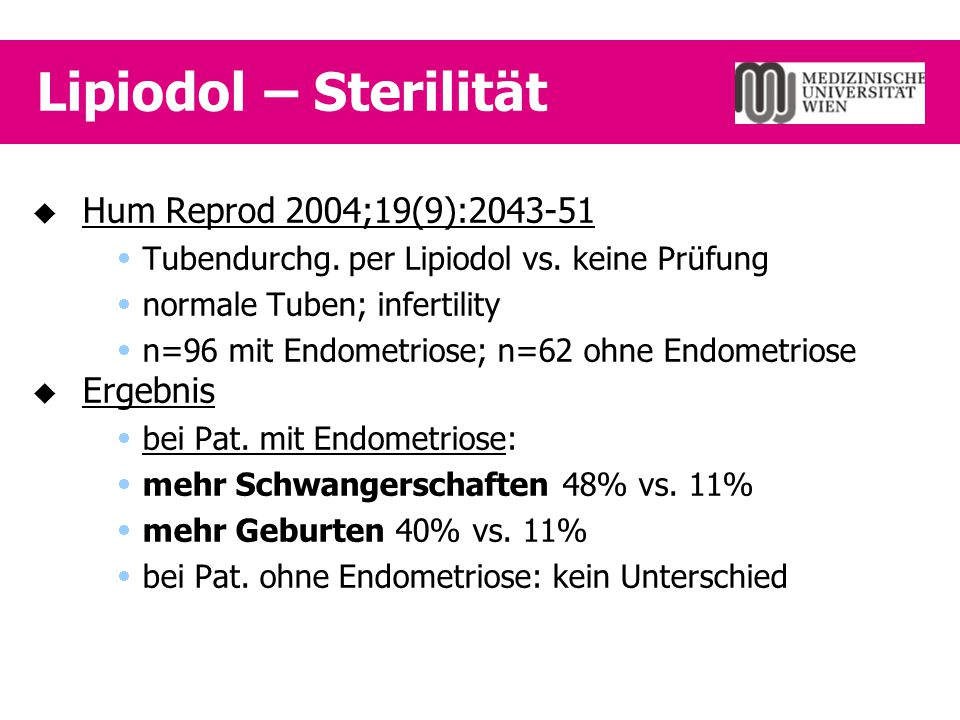 LUNA - Endometriose  Fertil Steril 2003;80(2):310-9  Laparosk.
