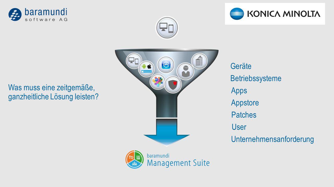Geräte Apps Betriebssysteme Appstore Patches User Unternehmensanforderung Was muss eine zeitgemäße, ganzheitliche Lösung leisten?