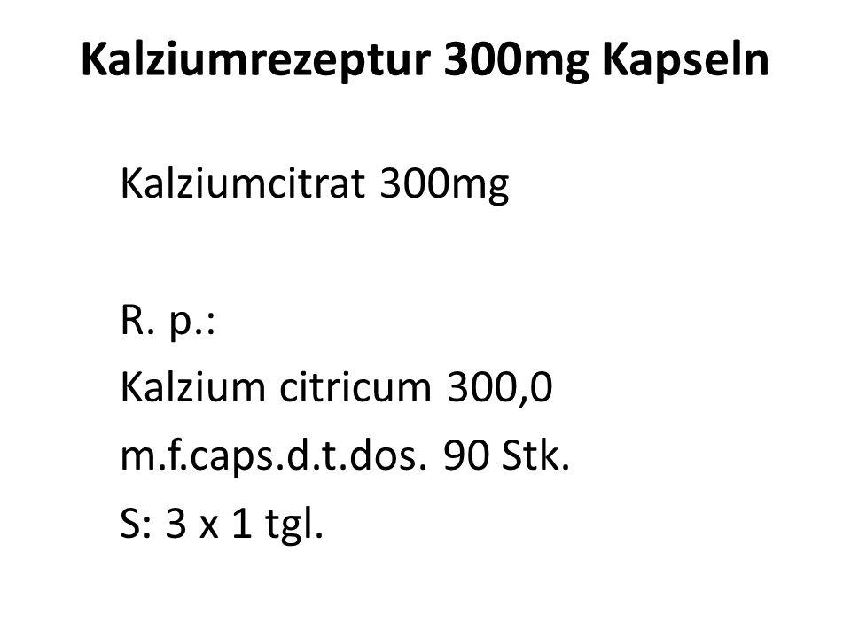 OM - Kalzium Zubereitungen Kalziumtherapie unbedingt mit Vitamin D 3 Calziumcitrat Kaps. 300mg +Cal+ Citrat* (Pure Encaps.®) Oscap* (Thorne®) Ca-MCHA,