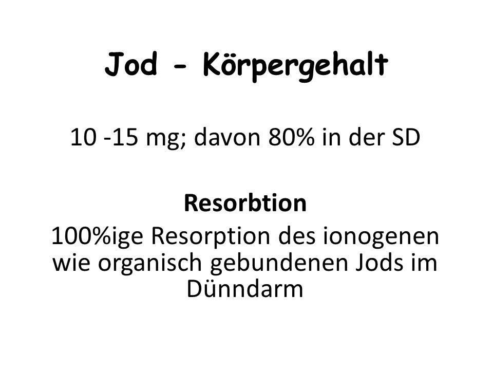 Bestandteil des Schilddrüsenhormons (Kropf: 1991 mit 90 000 3.häufigste Operation in Deutschland) Antioxidans Seefisch, Krustentiere, Scholle, Seelach