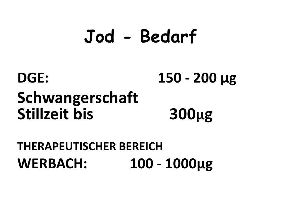 10 -15 mg; davon 80% in der SD Resorbtion 100%ige Resorption des ionogenen wie organisch gebundenen Jods im Dünndarm Jod - Körpergehalt