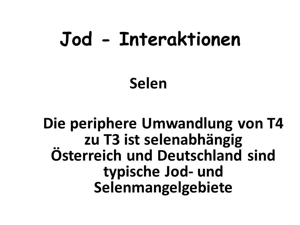 realistisch sind 50 - 75 μg So entsteht täglich ein Jod- Mangel von 120 - 150ug (DGE: 6 -7 Mio. Bundesbürger ) Jod - Zufuhr