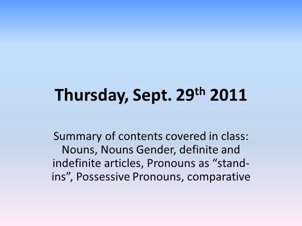 1. German Nouns and Grammatical Gender