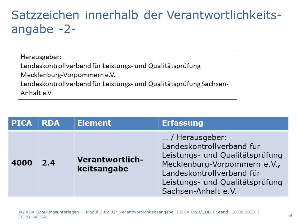 PICARDAElementErfassung 40002.4 Verantwortlich- keitsangabe … / Herausgeber: Landeskontrollverband für Leistungs- und Qualitätsprüfung Mecklenburg-Vor