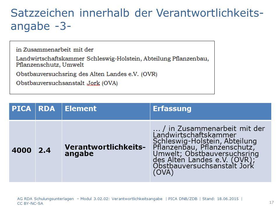 PICARDAElementErfassung 40002.4 Verantwortlichkeits- angabe... / in Zusammenarbeit mit der Landwirtschaftskammer Schleswig-Holstein, Abteilung Pflanze