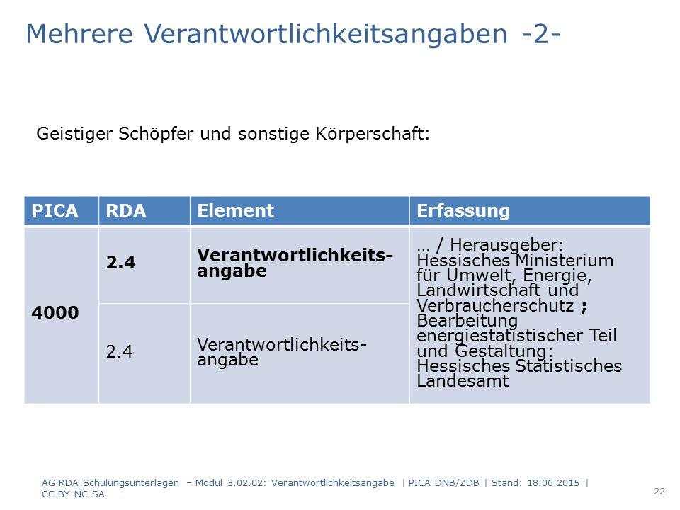PICARDAElementErfassung 4000 2.4 Verantwortlichkeits- angabe … / Herausgeber: Hessisches Ministerium für Umwelt, Energie, Landwirtschaft und Verbrauch