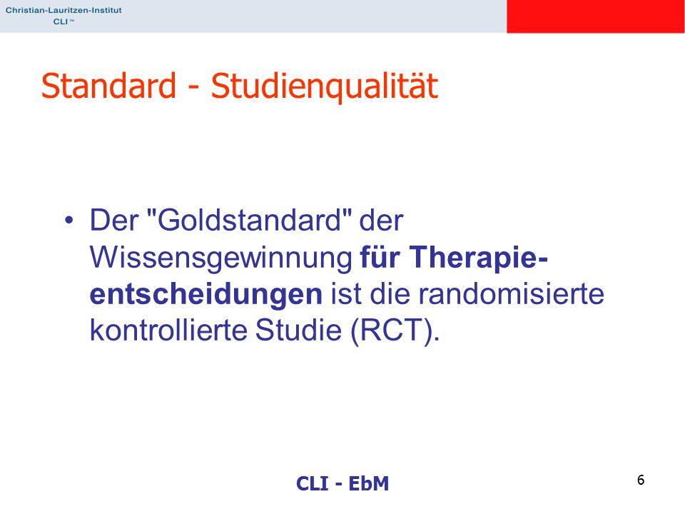 CLI - EbM 6 Standard - Studienqualität Der