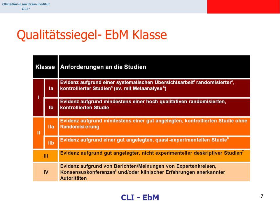 CLI - EbM 7 Qualitätssiegel- EbM Klasse