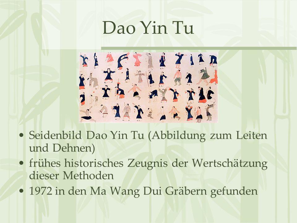 Dao Yin Tu Seidenbild Dao Yin Tu (Abbildung zum Leiten und Dehnen) frühes historisches Zeugnis der Wertschätzung dieser Methoden 1972 in den Ma Wang D