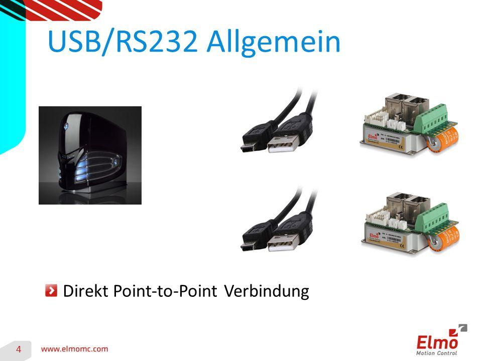 4 USB/RS232 Allgemein Direkt Point-to-Point Verbindung