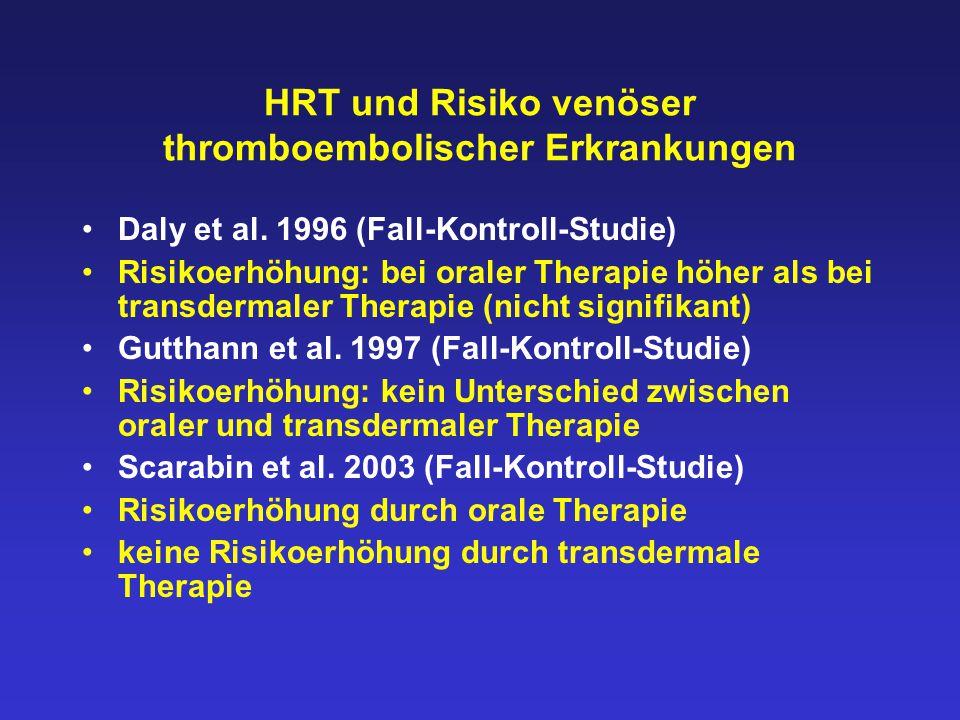 HRT und Risiko venöser thromboembolischer Erkrankungen Daly et al.