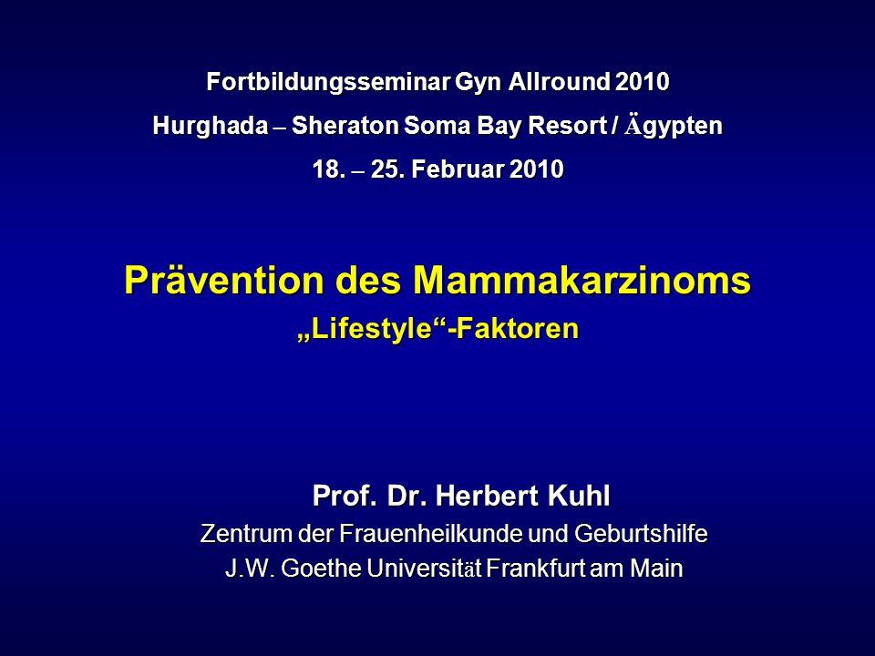 % 100 98 96 94 92 90 Karzinom-freies Überleben Kalzium + Vitamin D Kalzium Placebo 0 1 2 3 4 Behandlungsdauer (Jahre) Lappe et al.