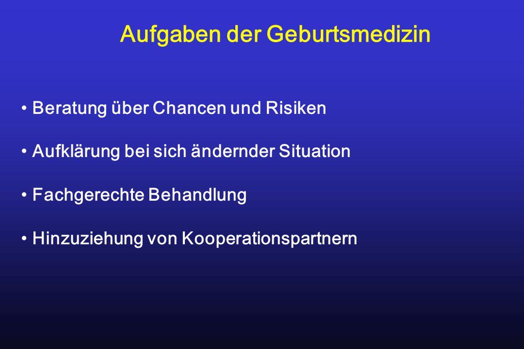 Beratung über Chancen und Risiken Aufklärung bei sich ändernder Situation Fachgerechte Behandlung Hinzuziehung von Kooperationspartnern Aufgaben der G