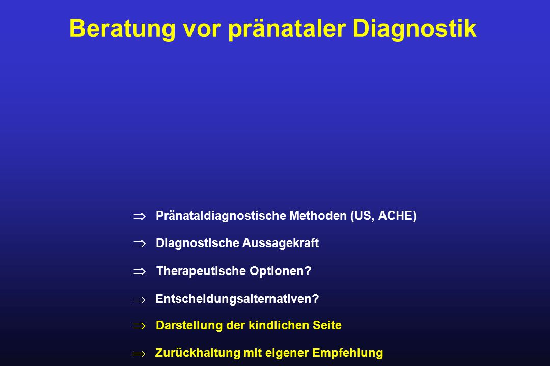 Prädiktionsrate für Trisomie 21 und Strategie StrategieSSW Marker Erkennung (%) 115-19 Free ß-HCG, AFP63,2 215-19 Free ß-hCG, AFP, uE 3 66,8 315-19 Free ß-hCG, AFP, uE 3, 72,1 Inhibin A 410 Free ß-hCG, AFP, uE 3, 77,4 PAPP-A 511-13 NT72,9 610-11 Free ß-hCG, AFP, uE 3, 91,6 PAPP-A, NT 711-13 NT, NB92,4 810-11 Free ß-hCG, AFP, uE 3, 97,5 PAPP-A, NT and NB When 5% are referred for prenatale diagnosis (from published model or remodelled with nasalbone findings from Cicero et al).