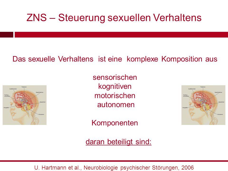 ZNS – Steuerung sexuellen Verhaltens Das sexuelle Verhaltens ist eine komplexe Komposition aus sensorischen kognitiven motorischen autonomen Komponent